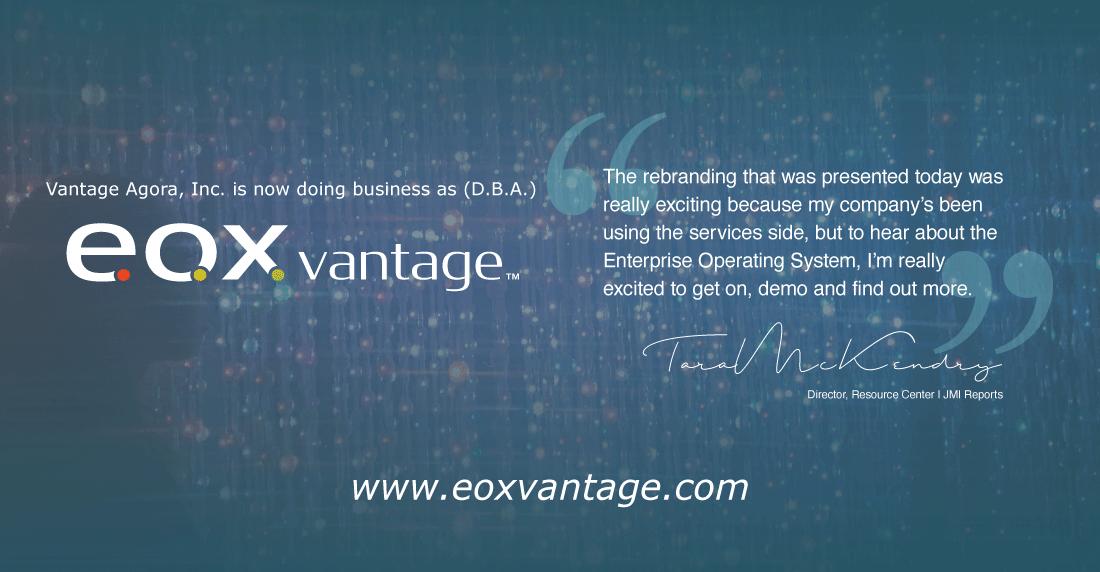 Vantage Agora, Inc. D.B.A. EOX Vantage