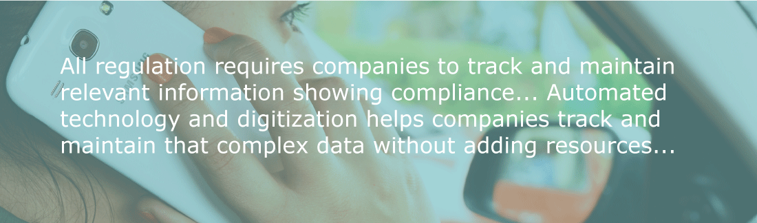 Automated technology and digitization helps companies track and maintain complex data