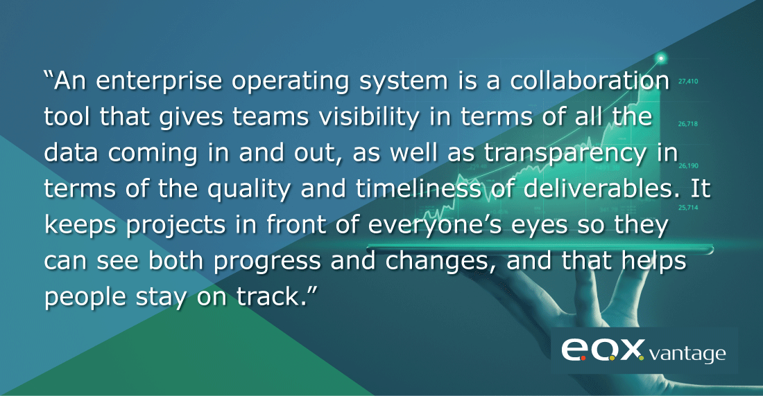 an enterprise operating system provides visibility into business operations