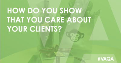 how do you show clients you care?